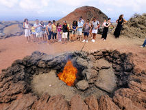 Timanfaya Show stock photo