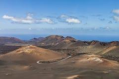 Timanfaya Volcanoe National Park in Lanzarote,  Spain. Timanfaya Volcanoe National Park in Lanzarote, Canary Islands, Spain Stock Images