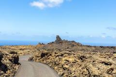 Timanfaya Volcanoe National Park in Lanzarote,  Spain. Timanfaya Volcanoe National Park in Lanzarote, Canary Islands, Spain Royalty Free Stock Photos