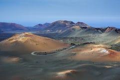 Timanfaya vulkanische parc Royalty-vrije Stock Foto's