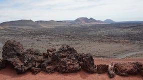 Timanfayas-Vulkan Lizenzfreies Stockfoto
