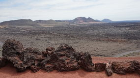 Timanfayas wulkan Zdjęcie Royalty Free