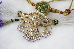Timaniya Necklace. Rajasthani Timaniya Necklace  on white Royalty Free Stock Photos