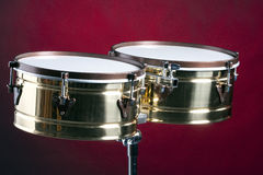 Timbale Drums isolated On Red Stock Images