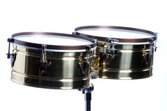 Timbales Isolated On White Stock Photos