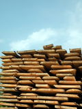 Timber. Pine timber store suitable as background Royalty Free Stock Photos