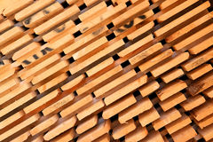 Timber. Patterns from a stack of wooden planks Royalty Free Stock Images
