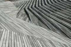 Timber. In a park in Yokohama, Japan - hardwood. Full depth of field Stock Image