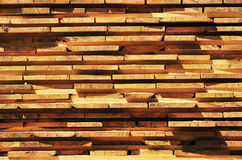 Timber. Lot of timber for constructions Stock Photos