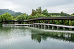 Timber Arch Lounge Bridge Stock Image