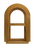 Timber arch window Royalty Free Stock Images