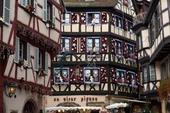 Timber architecture of Colmar, France stock images