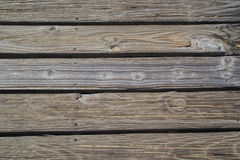 Timber boards. Nailed rustic timber boards along boardwalk Royalty Free Stock Photo