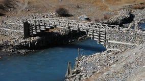 Timber bridge in Manang Stock Photography
