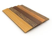 Timber floor. Illustration of a colour parquet on a white background Royalty Free Stock Photo