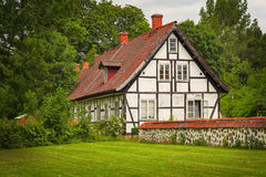 Timber frame building Royalty Free Stock Photo