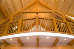 Timber frame detailing Stock Images