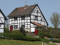 Timber frame house in Limburg Stock Photography