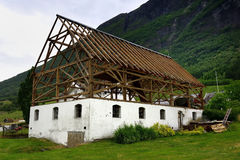 Timber Frame House structure Stock Image
