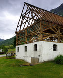 Timber Frame House structure Royalty Free Stock Images