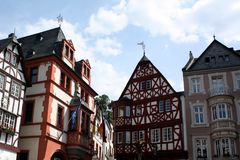 Timber-frame houses. Germany stock images