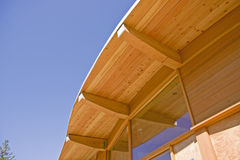 Timber Frame Roof Construction Royalty Free Stock Photography