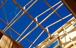 Timber frame roof structure Royalty Free Stock Photography