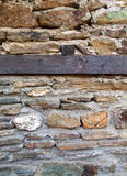 Timber frame stone wall Stock Photos