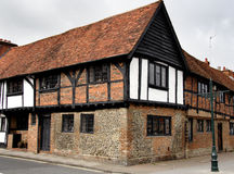 Timber Framed Cottage. Old Timber Framed Cottage in an English Market Town Royalty Free Stock Photo