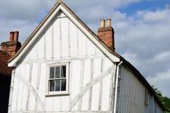 Timber framed english cottage. Timber framed white english cottage Royalty Free Stock Images