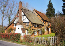 Timber Framed English Rural Cottage Stock Image
