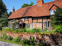 Timber Framed English Village Cottage Royalty Free Stock Images