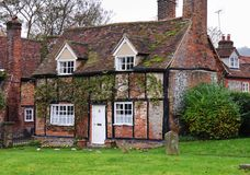 Timber Framed English Village Cottage Stock Photography
