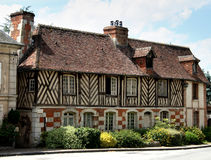 Timber Framed House. In an Historic Village in Normandy, France Stock Photo