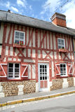 Timber Framed House. Colourful Timber Framed House in an Historic Village in Normandy, France Stock Image