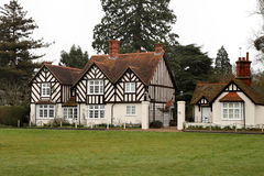 Timber Framed House and Lodge Stock Image