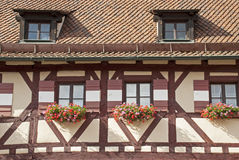 Timber framed house in Nuremberg Royalty Free Stock Photo