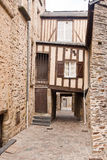 Timber Framed House in Vitre Stock Photography
