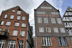 Timber-framed houses at Nikolaifleet, Altstadt district, Hamburg Stock Photography