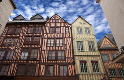 Timber framed houses in Rouen. Detail of some timber framed houses in Rouen France Royalty Free Stock Photo