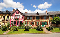 Timber Framed Normandy Houses Royalty Free Stock Photography