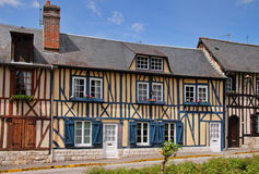 Timber Framed Normandy Houses Royalty Free Stock Photos