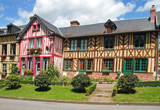 Timber Framed Normandy Houses Royalty Free Stock Image