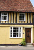 Timber-framed Tudor-Art Haus Stockbild