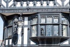 Timber framed Tudor style building. Architectural details of Timber framed Tudor style building, Chester, England, UK Stock Photo