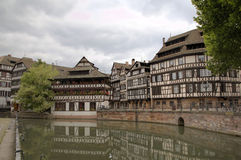 Timber framing houses of district la Petite France. Strasbourg, France Stock Image