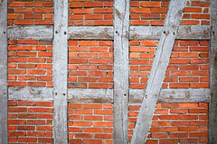Timber framing wall Royalty Free Stock Images