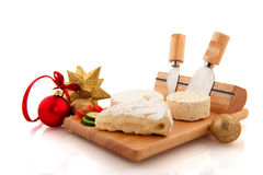 Timber with French cheese Royalty Free Stock Photo