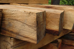 Timber for furniture making. Timber for furniture making in manufacture Royalty Free Stock Photos