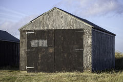 Timber garage storage shed. An unpainted timber storage shed or garage Stock Image